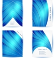 Straight lines abstract background Blue vector image vector image