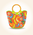 Summer Woman Bag with China Print vector image