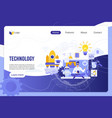 technology digital world landing page vector image