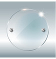 transparent round circle see through element on vector image vector image
