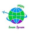 Travel company logo vector image vector image