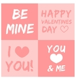 Valentines day and typography element vector image vector image