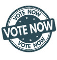 vote now sign or stamp vector image