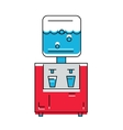 Water Cooler icon Line style vector image