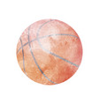 Watercolor basketball on white