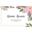 wedding invitation decorative minimalistic and vector image
