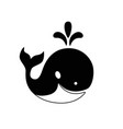 whale black and white image a marine mammal vector image vector image