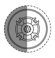 wheel car isolated icon vector image vector image