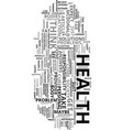your health is your yours text word cloud concept vector image vector image