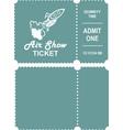 aero show ticket vector image