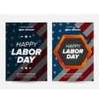 Labor day banner vector image