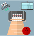 set of colorful bowling icons sport strike vector image