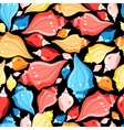 Seamless graphic pattern seashells vector image