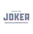 3d modern font colorful modern line alphabet vector image vector image