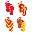 abstract footprints vector image vector image