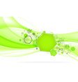 Abstract green background with hexagon vector image vector image