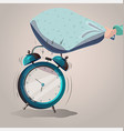 alarm clock sleep vector image