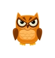 Angry Brown Owl vector image vector image