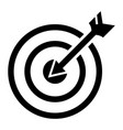arrow in target icon simple style vector image vector image