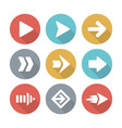 Arrow modern flat icons vector image