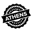 Athens stamp rubber grunge vector image
