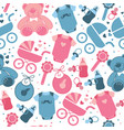 baby clothes and toys seamless pattern vector image
