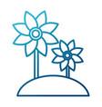 beautiful flowers symbol vector image vector image