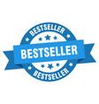 bestseller ribbon bestseller round blue sign vector image vector image