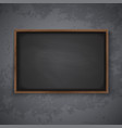 blackboard on wall vector image