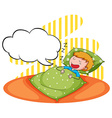 Boy sleeping and snoring vector image vector image