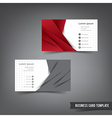 Business Card template set 027 red and grey layer vector image vector image