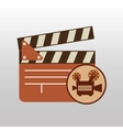camera movie vintage clapper icon design vector image vector image