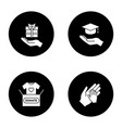 charity glyph icons set vector image vector image