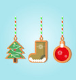 christmas holiday gingerbread vector image vector image