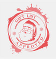 christmas stamp with huge stains blots and vector image vector image