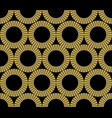 classic gold patterns with 3d effect on black vector image vector image