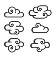 cloud icon set on white background vector image