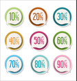 collection colorful modern badges and labels 3 vector image vector image