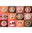 Collection of vintage ice cream and cupcake labels vector image