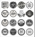 collection retro vintage badges and labels 7 vector image vector image