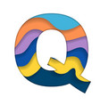 colorful letter q vector image vector image