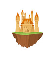 colorful stone island castle on white background vector image vector image