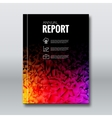 Cover Report Business Colorful Dark Rainbow vector image vector image