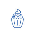 cupcake line icon concept cupcake flat vector image