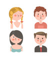 cute people with different emotions vector image