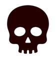 dangerous black human skull medicaments poison vector image vector image