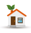 eco house isolated icon vector image