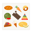 find an extra object edible and inedible vector image