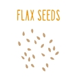 Flax seeds vector image vector image