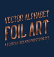 foil art typeface copper font isolated english vector image vector image